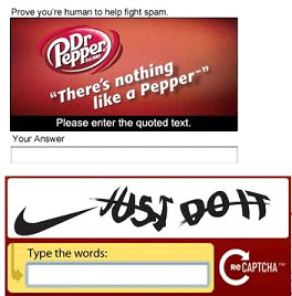 Dr. Pepper Captcha